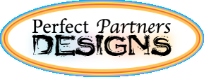 Perfect Partners Designs Logo inside a white oval